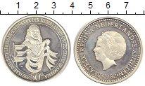 Изображение Монеты Антильские острова 50 гульденов 1982 Серебро Proof 200 - летие отношени