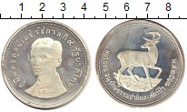 Изображение Монеты Таиланд 100 бат 1974 Серебро Proof-