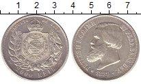 Изображение Монеты Бразилия 2000 рейс 1889 Серебро UNC-