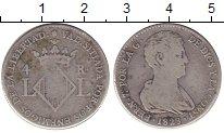 Изображение Монеты Испания 2 реала 1823 Серебро XF Валенсия.Фердинанд V