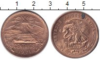 Изображение Монеты Мексика 20 сентаво 1971 Бронза UNC-