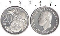 Изображение Монеты Самоа 20 Сене 1974 Медно-никель UNC