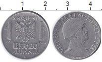 Изображение Монеты Албания 0,2 лек 1939  XF Виктор Эммануил III.