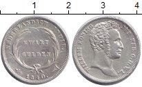 Изображение Монеты Нидерландская Индия 1/4 гульдена 1840 Серебро XF