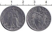 Изображение Монеты Ватикан 20 сентим 1942 Железо XF