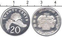 Изображение Монеты Сингапур 20 центов 1990 Серебро Proof