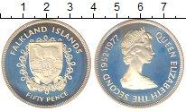 Изображение Монеты Фолклендские острова 50 пенсов 1977 Серебро Proof-