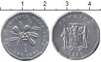 Изображение Монеты Ямайка 1 цент 1975 Алюминий XF