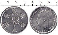 Изображение Монеты Испания 100 песет 1980 Медно-никель XF Испания-82 Хуан Карл