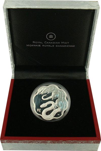 Изображение Подарочные монеты Канада Год Змеи 2013 Серебро Proof Монета номиналом 15