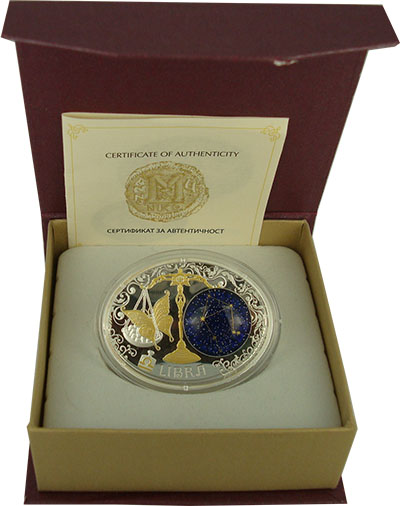 Изображение Подарочные монеты Македония Знаки зодиака 2014 Серебро Proof