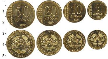 Изображение Наборы монет Таджикистан Таджикистан 2015 2015 Медь UNC- В наборе 4 монеты но
