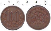 Изображение Дешевые монеты Чили 100 песо 1984 Бронза VF-