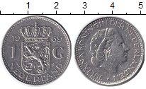 Изображение Дешевые монеты Нидерланды 1 гульден 1969 Медно-никель VG