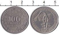 Изображение Барахолка Западно-Африканский Союз 100 франков 1980 Медно-никель XF