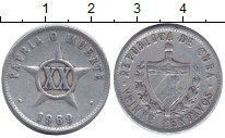 Изображение Барахолка Куба 20 сентаво 1969 Алюминий VG