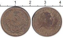 Изображение Дешевые монеты Уругвай 5 сентесим 1960 Латунь VF-