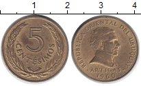 Изображение Дешевые монеты Уругвай 5 сентесим 1960 Бронза XF+