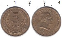 Изображение Дешевые монеты Уругвай 5 сентесим 1960 Бронза XF