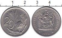 Изображение Дешевые монеты ЮАР 20 центов 1972 Медно-никель XF