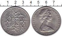 Монета Новая Зеландия 1 доллар Медно-никель 1974 UNC