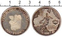 Изображение Монеты Конго 500 франков 1998 Серебро UNC-