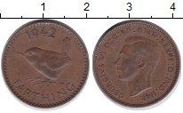 Изображение Монеты Великобритания 1 фартинг 1942 Бронза XF
