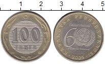 Монета Казахстан 100 тенге Биметалл 2005 UNC