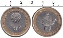 Изображение Монеты Португалия 200 эскудо 1999 Биметалл XF