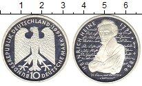 Изображение Мелочь ФРГ 10 марок 1997 Серебро Proof- 200 - летие  Генриха