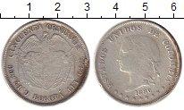 Изображение Монеты Колумбия 50 сентаво 1880 Серебро XF