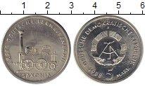 Изображение Монеты ГДР 5 марок 1988 Медно-никель XF Первая железная доро