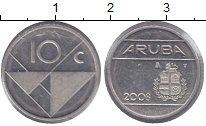 Изображение Монеты Аруба 10 центов 2008 Медно-никель XF