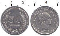 Изображение Монеты Колумбия 50 сентаво 1971 Медно-никель UNC-