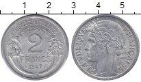 Изображение Монеты Франция 2 франка 1947 Алюминий VF
