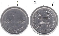 Изображение Монеты Финляндия 1 марка 1956 Никель XF