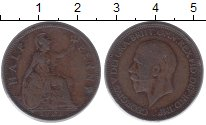 Изображение Монеты Великобритания 1/2 пенни 1933 Бронза VF