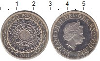 Изображение Монеты Великобритания 2 фунта 2011 Биметалл Proof