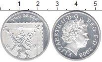 Изображение Монеты Великобритания 2 пенса 2008 Серебро Proof-