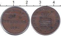 Изображение Монеты Саксен-Майнинген 2 пфеннига 1862 Медь XF Бернард II