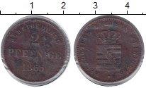 Изображение Монеты Саксен-Майнинген 2 пфеннига 1865 Медь VF Бернард II