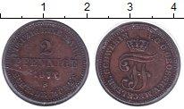 Изображение Монеты Германия Мекленбург-Шверин 2 пфеннига 1872 Медь XF