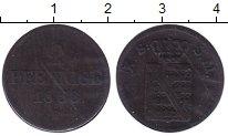 Изображение Монеты Германия Саксония 2 пфеннига 1853 Медь VF