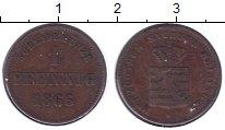 Изображение Монеты Саксен-Майнинген 1 пфенниг 1866 Медь XF Бернард II