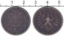 Изображение Монеты Франкфурт 1/2 гульдена 1845 Серебро XF