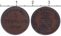 Изображение Монеты Саксен-Майнинген 1 пфенниг 1868 Медь XF Георг II