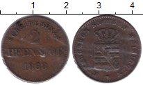 Изображение Монеты Саксен-Майнинген 2 пфеннига 1868 Медь XF