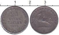 Изображение Монеты Ганновер 1/24 талера 1856 Серебро XF Георг V