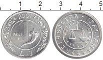 Изображение Монеты Италия 1 лира 2001 Серебро UNC- `Серия ``Прощание с