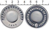 Изображение Монеты Гернси 5 фунтов 1999 Серебро Proof